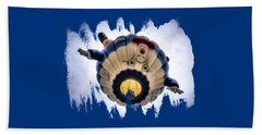 Humpty Dumpty Hot Air Balloon Beach Towel