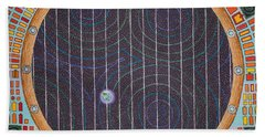 Hundertwasser Shuttle Window Beach Sheet