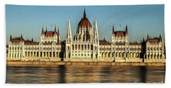 Hungarian National Parliament Beach Towel