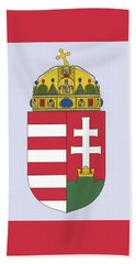 Beach Towel featuring the drawing Hungary Coat Of Arms by Movie Poster Prints