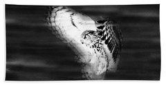 Hunter In Flight  Beach Towel