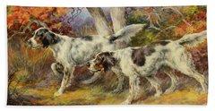 Hunting Dogs Beach Towel