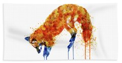 Hunting Fox  Beach Towel