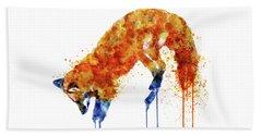 Hunting Fox  Beach Sheet by Marian Voicu