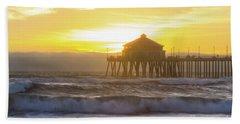 Huntington Peir 2 Beach Towel