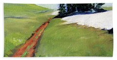 Beach Towel featuring the painting Hurricane Hill by Nancy Merkle