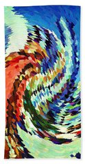 Hurricane Irma Hits Florida - Abstract Modern Art Beach Towel
