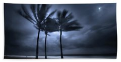 Hurricane Matthew Beach Towel by Mark Andrew Thomas