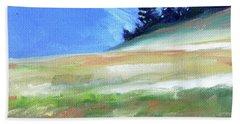 Beach Towel featuring the painting Hurricane Ridge by Nancy Merkle