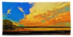 Hurry Sundown Beach Towel
