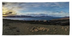 Hvalfjorour Panorama Beach Towel