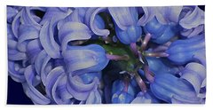 Hyacinth Curls Beach Towel by Lynda Lehmann
