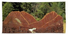 Hyalite Canyon Sculpture Beach Towel