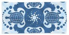 Hybiscus And Turtle Hawaiian Quilt Block Beach Sheet