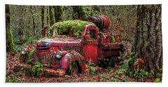 Hybrid Fire Truck Beach Sheet