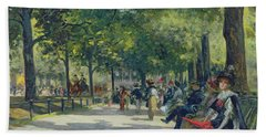 Hyde Park - London  Beach Towel by Count Girolamo Pieri Nerli