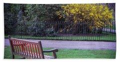 Hyde Park Bench - London Beach Sheet