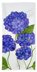 Beach Towel featuring the painting Hydrangea by Reina Resto
