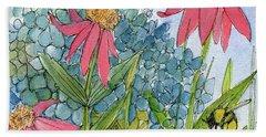 Hydrangea With Bee Beach Sheet
