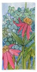 Hydrangea With Bee Beach Towel