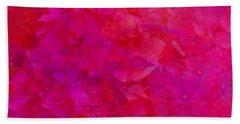 Beach Towel featuring the photograph Hydrangeas On Red by Nareeta Martin