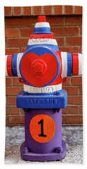 Beach Towel featuring the photograph Hydrant Number One by James Eddy