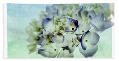 Beach Towel featuring the photograph Hydrengae Petals 2 by Rebecca Cozart