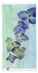 Beach Towel featuring the photograph Hydrengae Petals by Rebecca Cozart