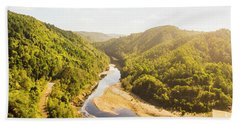 Hydropower Valley River Beach Towel