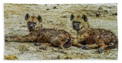 Hyenas In The Serengeti Beach Sheet