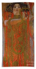 Hygieia Beach Towel by Gustav Klimt