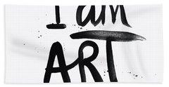 I Am Art Black Ink - Art By Linda Woods Beach Towel