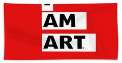 I Am Art Stripes- Design By Linda Woods Beach Towel