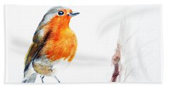 Beach Towel featuring the painting I Am Happy by Jasna Dragun