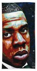 I Am Jay Z Beach Towel by Maria Arango