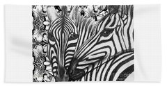 I Am So Into You Zebra Love Beach Towel