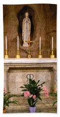 I Am The Immaculate Conception - Tiny Chapel On Crypt Level Beach Towel
