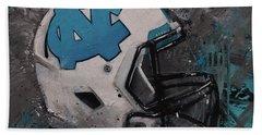 I Bleed Carolina Blue Tarheel Wall Art Football Helment Beach Towel