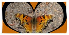 I Chose Love With A Butterfly In A Heart Beach Towel