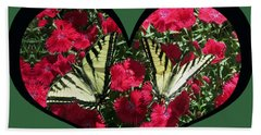I Chose Love With A Monarch Butterfly In A Heart Beach Towel