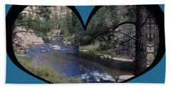 I Chose Love With A River Flowing In A Heart Beach Towel