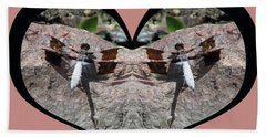 I Chose Love With Dragonflies On A Rock Beach Towel