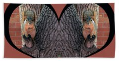 I Chose Love With Squirrels Hands On Hearts Beach Towel