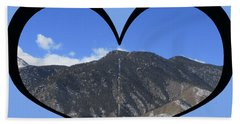 I Choose Love With The Manitou Springs Incline In A Heart Beach Towel