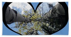 I Chose Love_heart Filled By Looking Up Aspens Beach Towel