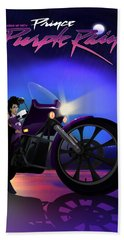 I Grew Up With Purplerain Beach Towel by Nelson dedos Garcia