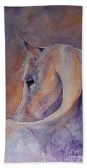 I Hear You - Painting Beach Towel by Veronica Rickard