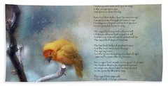 I Know Why The Caged Bird Sings - Maya Angelou Beach Sheet