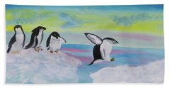 Beach Towel featuring the painting I Like Dreaming by Meryl Goudey