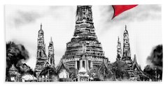 Beach Towel featuring the digital art I Love Bangkok by Sladjana Lazarevic